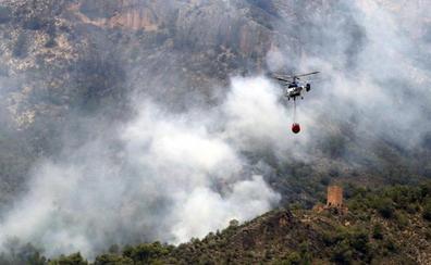 Un grupo de scouts alertó del fuego de Yeste: «Estamos en pánico, mandad a alguien ya»