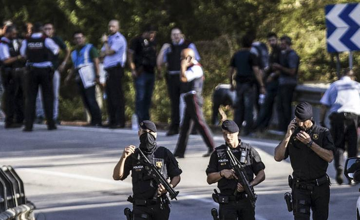 El dispositivo policial tras abatir Younes Abouyaaqoub, el autor material del atentado en Barcelona