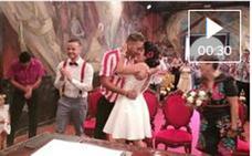 Se casa con la camiseta del Athletic en Las Palmas de Gran Canaria