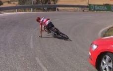 Así fue la caída de Froome en la Vuelta