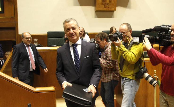 Las imágenes del Pleno del Parlamento vasco
