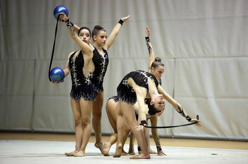La gimnasia rítmica muestra su mejor cara en Sakoneta