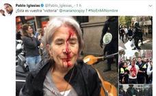 Iglesias: «Porrazos, empujones, ancianas arrastradas... Lo que hace el PP me repugna»