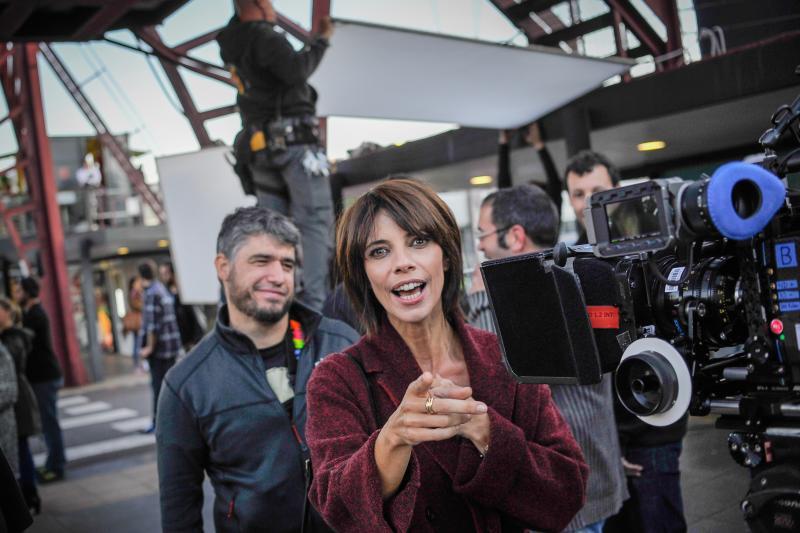 El rodaje de 'Ola de crímenes' en el Puente Colgante, en imágenes