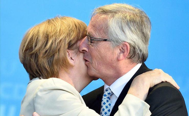 Juncker, el besucón