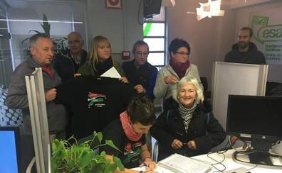Usansolo Herria recoge «2.000 firmas» de vecinos para apoyar el proceso de segregación de Galdakao