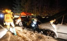 Una mujer fallecida y cinco heridos en una colisión triple en el corredor del Cadagua