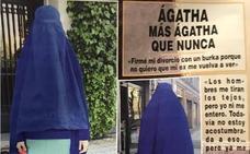 Ágatha Ruiz de la Prada se pone un burka para firmar su divorcio