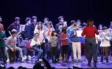 El euskera y la música se alían con la discapacidad en Galdakao