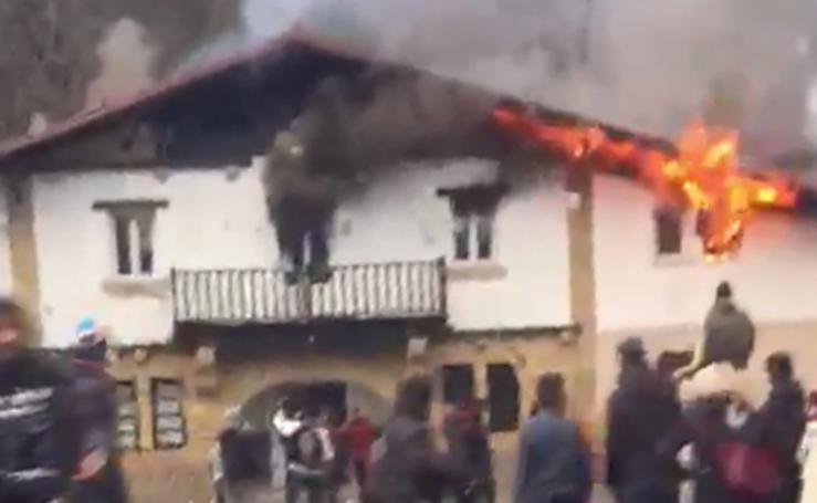 Fotos: Incendio en el centro de menores de Amorebieta