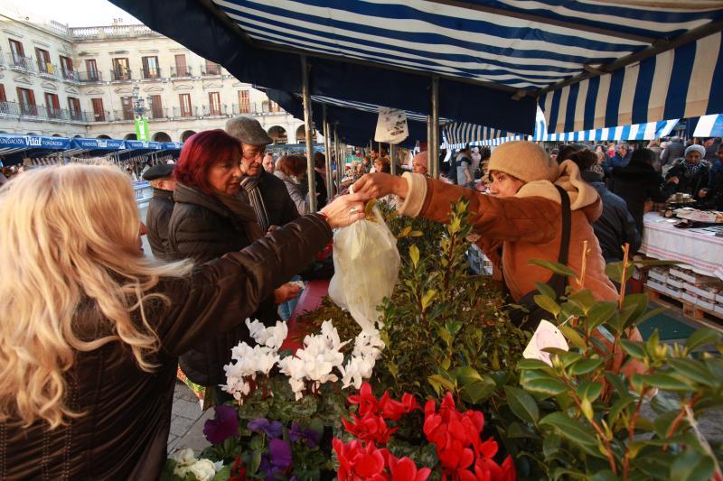 En Vitoria, la Navidad arranca con el tradicional mercado de la Plaza de España