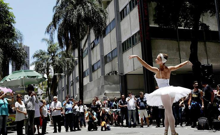 Traspié en el ballet de Río