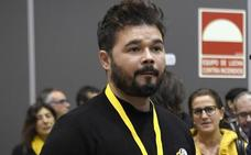 Rufián propone ceder un diputado a la CUP para que tenga grupo propio