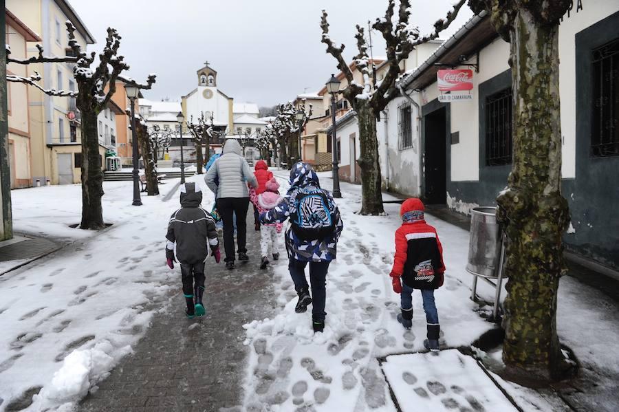 La Arboleda y Munitibar, cubiertos por la nieve