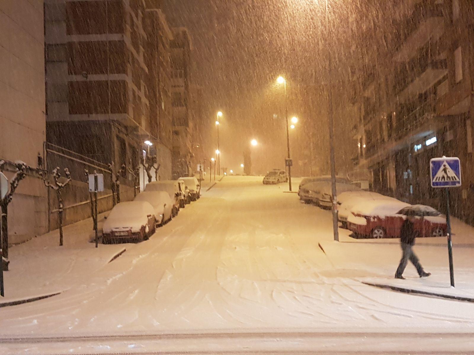 La nieve cubre de blanco Bizkaia
