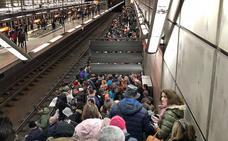 El metro registró un aumento del 15% de pasajeros durante la nevada
