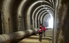 La Diputación restaurará el túnel de la vía verde del Vasco-Navarro entre Leorza y Cicujano