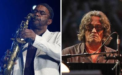El saxofonista Kenny Garrett y el pianista Chano Domínguez, en el Getxo Jazz
