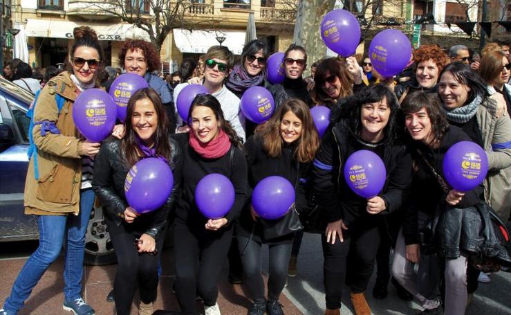Fotos de la Huelga del 8M en Euskadi: Día de la mujer 2018