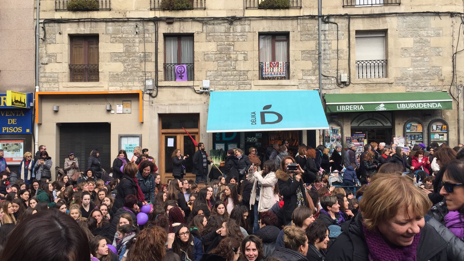 Las manifestaciones en Álava por el Día Internacional de la Mujer