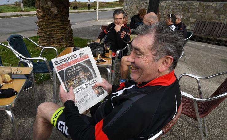 Eddy Merckx, de ruta por Bilbao