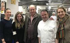 El Rey emérito Juan Carlos y la infanta Elena, en el restaurante de Martín Berasategui