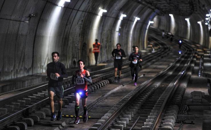 Correr bajo la Gran Vía y las aguas de la ría: Así ha sido la 'Under Run Metro Bilbao'