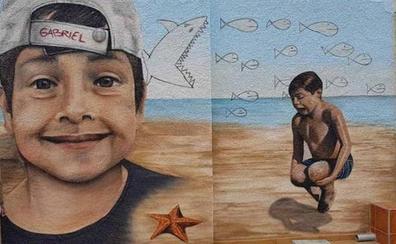 El emotivo mural de unos 'grafitteros' vascos al pequeño Gabriel