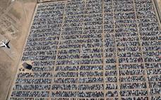 Los coches trucados de Volkswagen, en el desierto