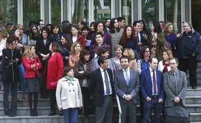 Jueces y fiscales se concentran en Bilbao para pedir mejoras en la Justicia