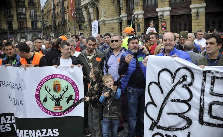 Los cazadores se reivindican en Bilbao