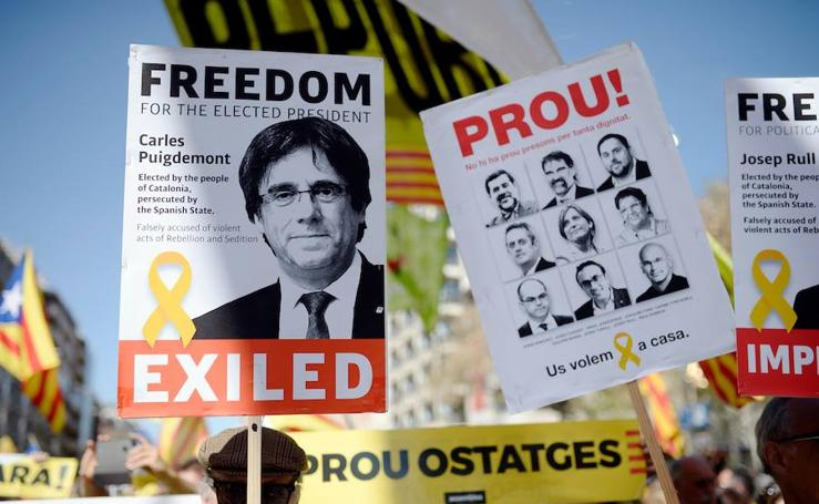 La manifestación de Barcelona, en imágenes