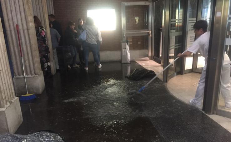 Inundaciones en el Hospital de Cruces