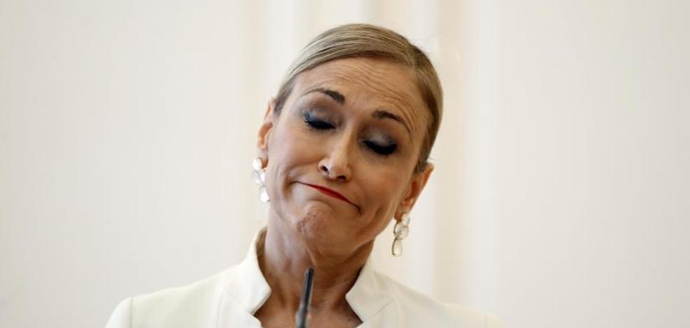 Cristina Cifuentes anuncia su dimisión