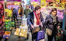 Los tenderos del mercado de La Ribera se rebelan por pagar «el triple» que los gastrobares
