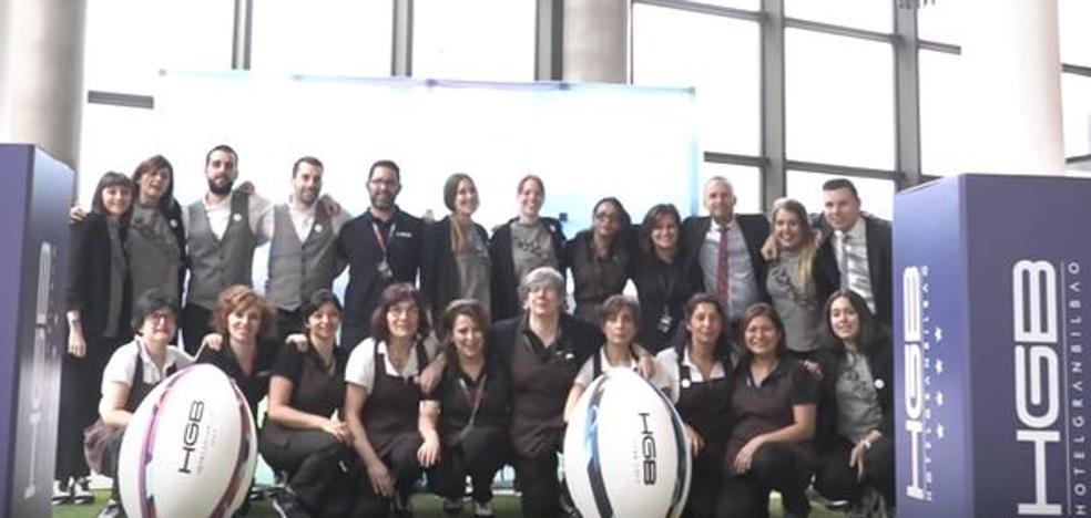 El original vídeo de bienvenida de un hotel de Bilbao a las hinchadas del rugby