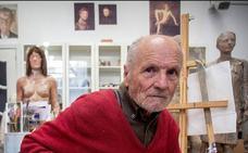 «He empezado dos cuadros sobre Bilbao, uno mira hacia el mar y el otro a España»