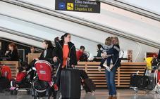 El aeropuerto de Bilbao supera el millón y medio de pasajeros en el primer cuatrimestre, un 8,6% más que el año pasado