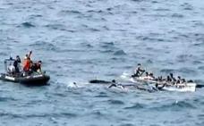 Rescatan a varios remeros menores de edad durante una regata en Lekeitio