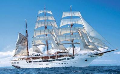 Getxo recibe en unos días un velero de 117 metros y un crucero con 1.600 obras de arte en su interior