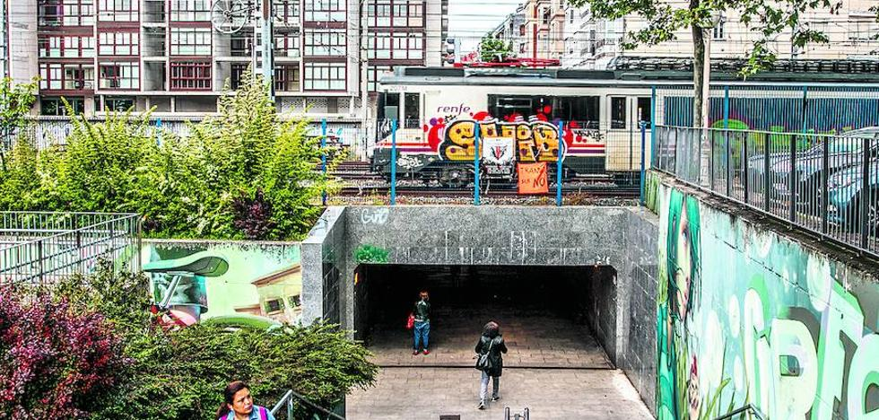El soterramiento sentencia 5 túneles y puentes del centro de Vitoria que cruzan las vías