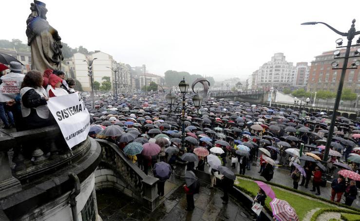 La lluvia no frena a los pensionistas