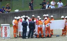 Brutal caída de Pirro en los entrenamientos de MotoGP en Mugello