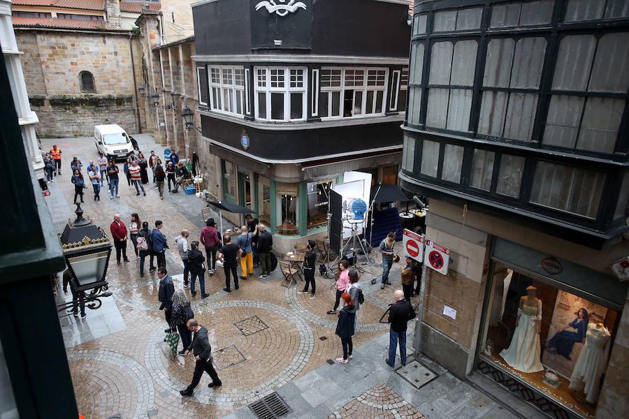 Una serie recrea en el Casco Viejo de Bilbao un atentado yihadista