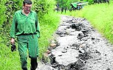 Los destrozos causados por la tromba de agua en Atxondo ascienden a 80.000 euros