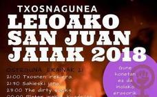 Programa de fiestas de San Juán 2018 en Leioa: Txosnagunea