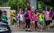 Gernika acelera el paso para que el alumnado acuda a pie a la escuela
