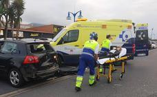 Detenido un conductor en Getxo por triplicar la tasa de alcohol tras verse envuelto en un accidente