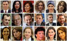 Lista y perfiles de las once ministras y seis ministros