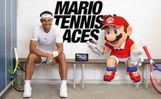 Rafa Nadal y Mario compiten en la pista de Mario Tennis Aces